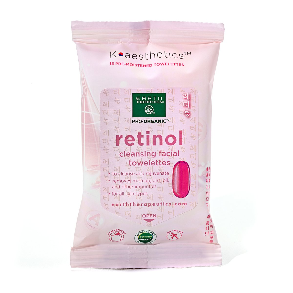 Retinol Cleansing Facial Towelettes - Travel Size