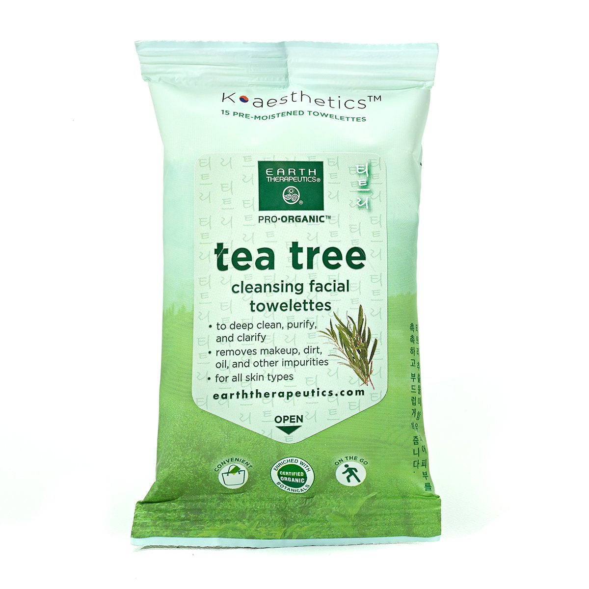Tea Tree Cleansing Facial Towelettes - Travel Size