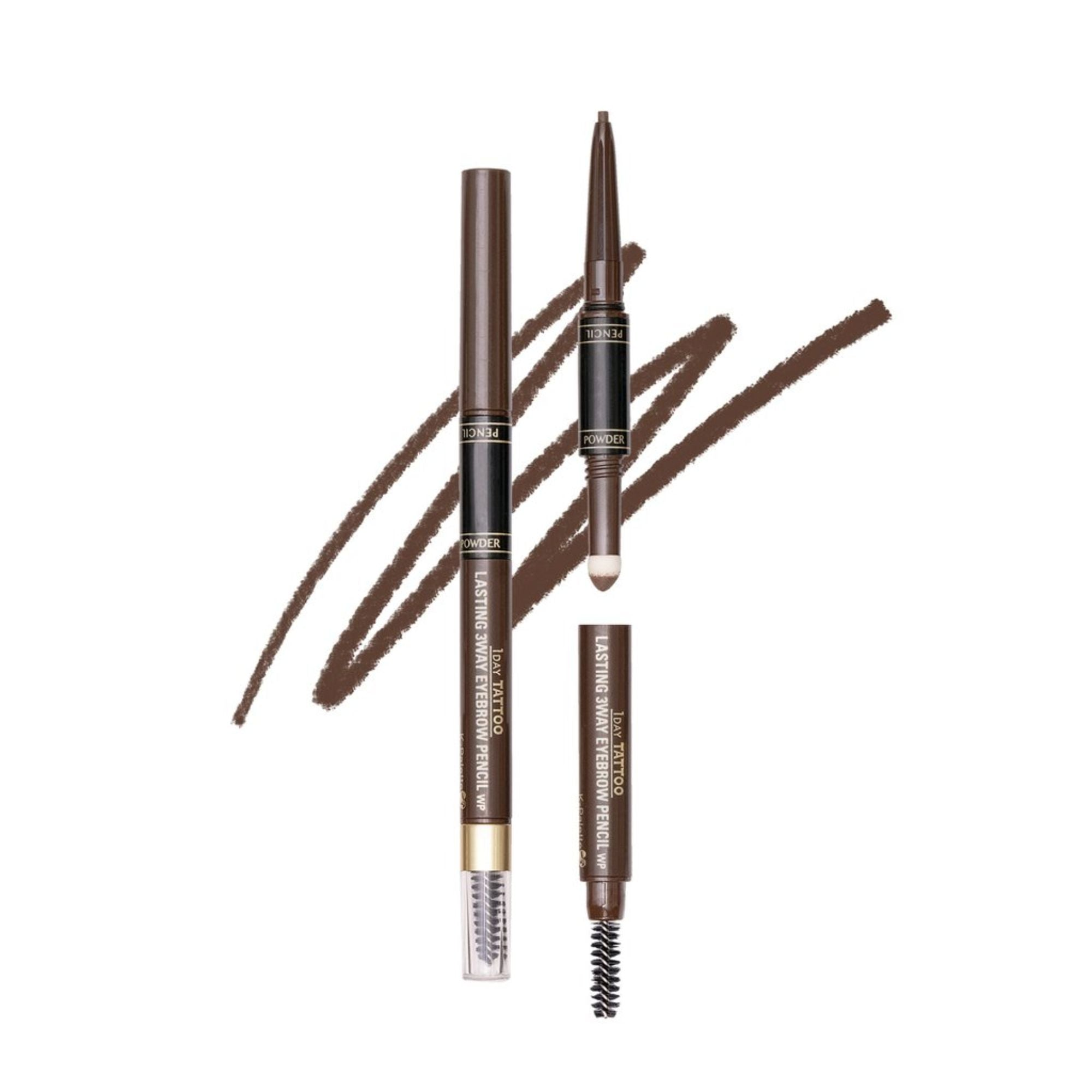 1 Day Tattoo Lasting 3-Way Eyebrow Pencil 24H