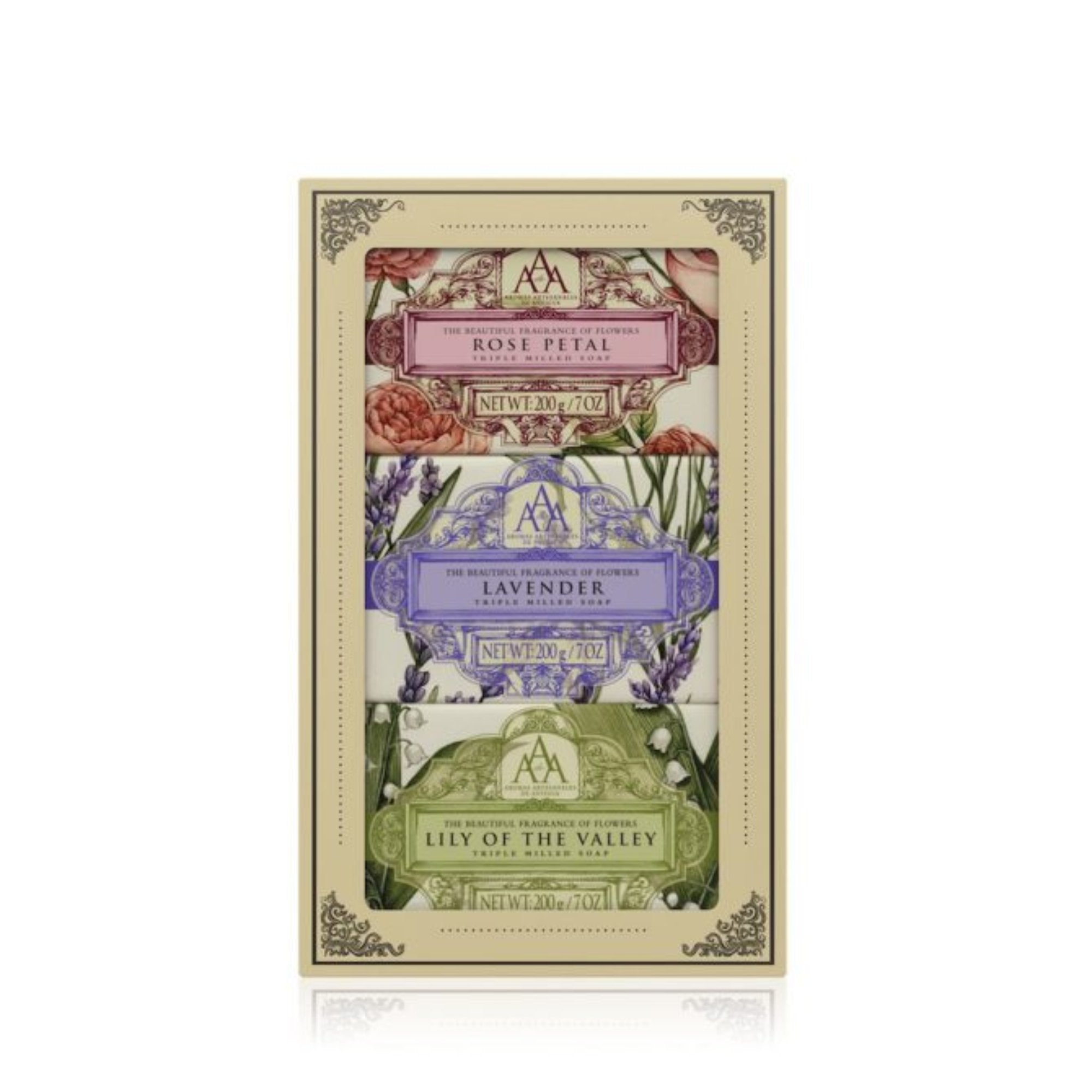 AAA Floral Soap Set of 3