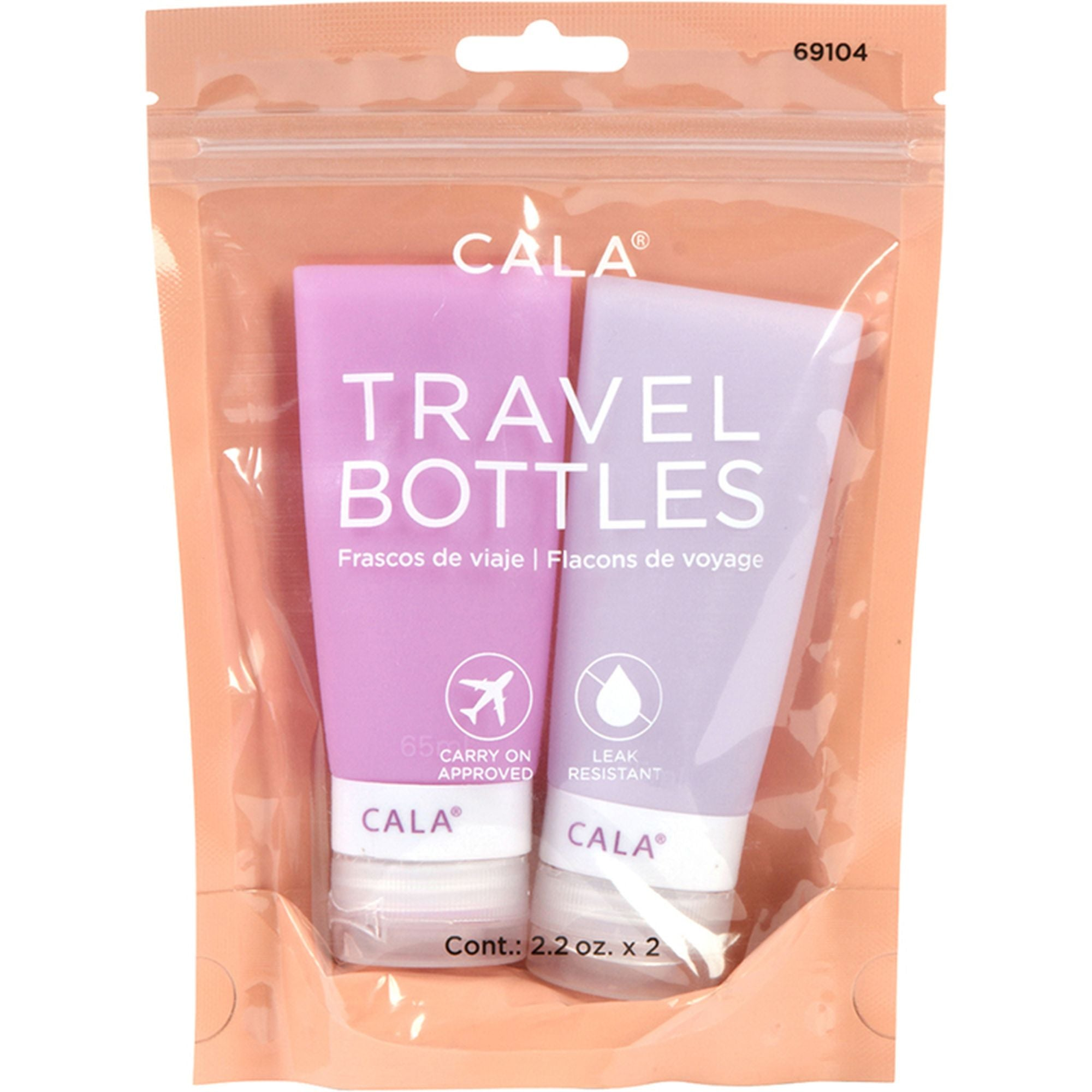 Lavender Silicone Travel Bottles