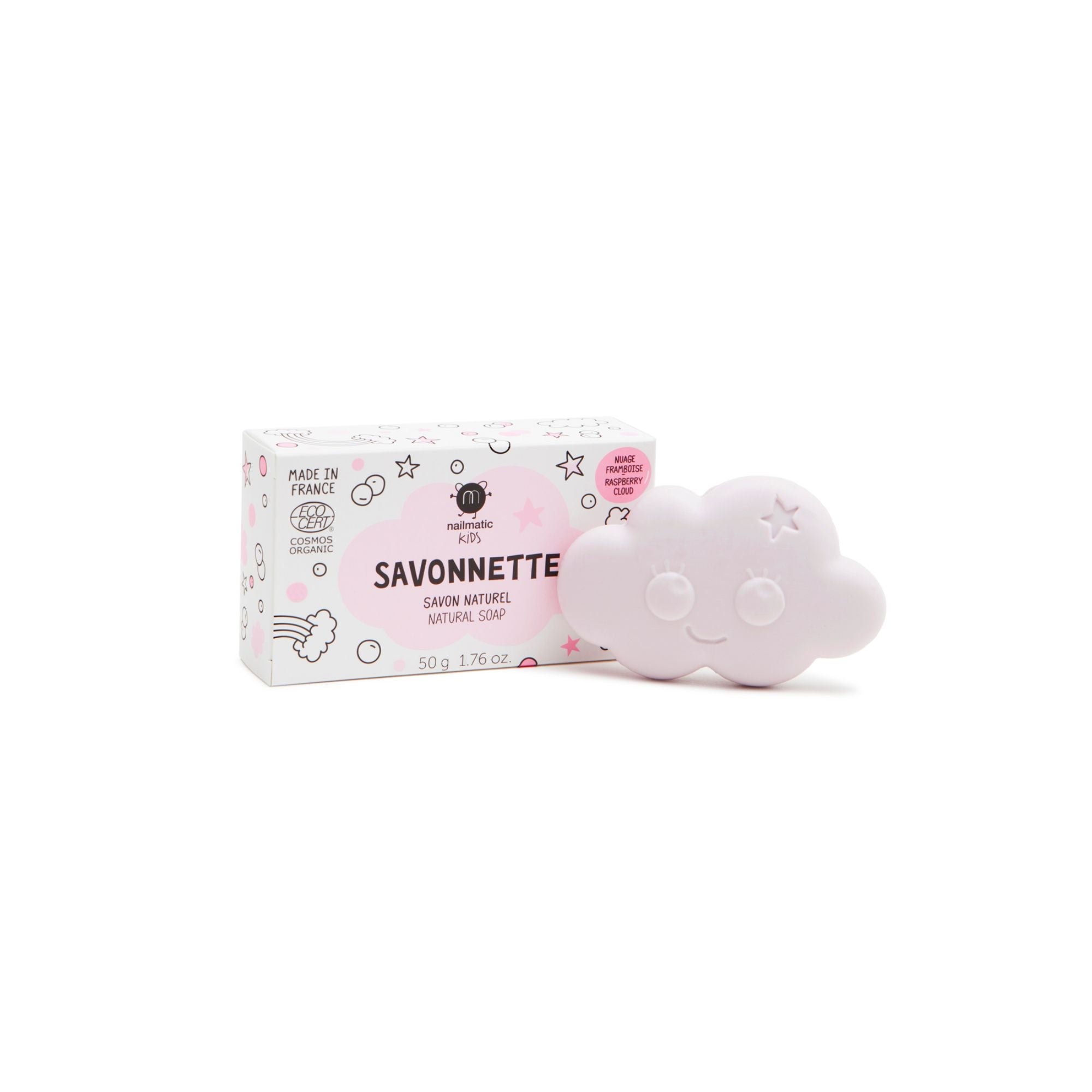 Organic Kids Cloud-shaped Soap - Raspberry