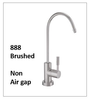 A Modern Style Reverse Osmosis Faucet Brushed Nickel NON air gap