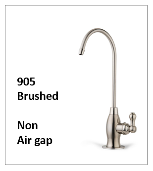 A Traditional Style Reverse Osmosis Faucet Brushed NickelNon Air Gap