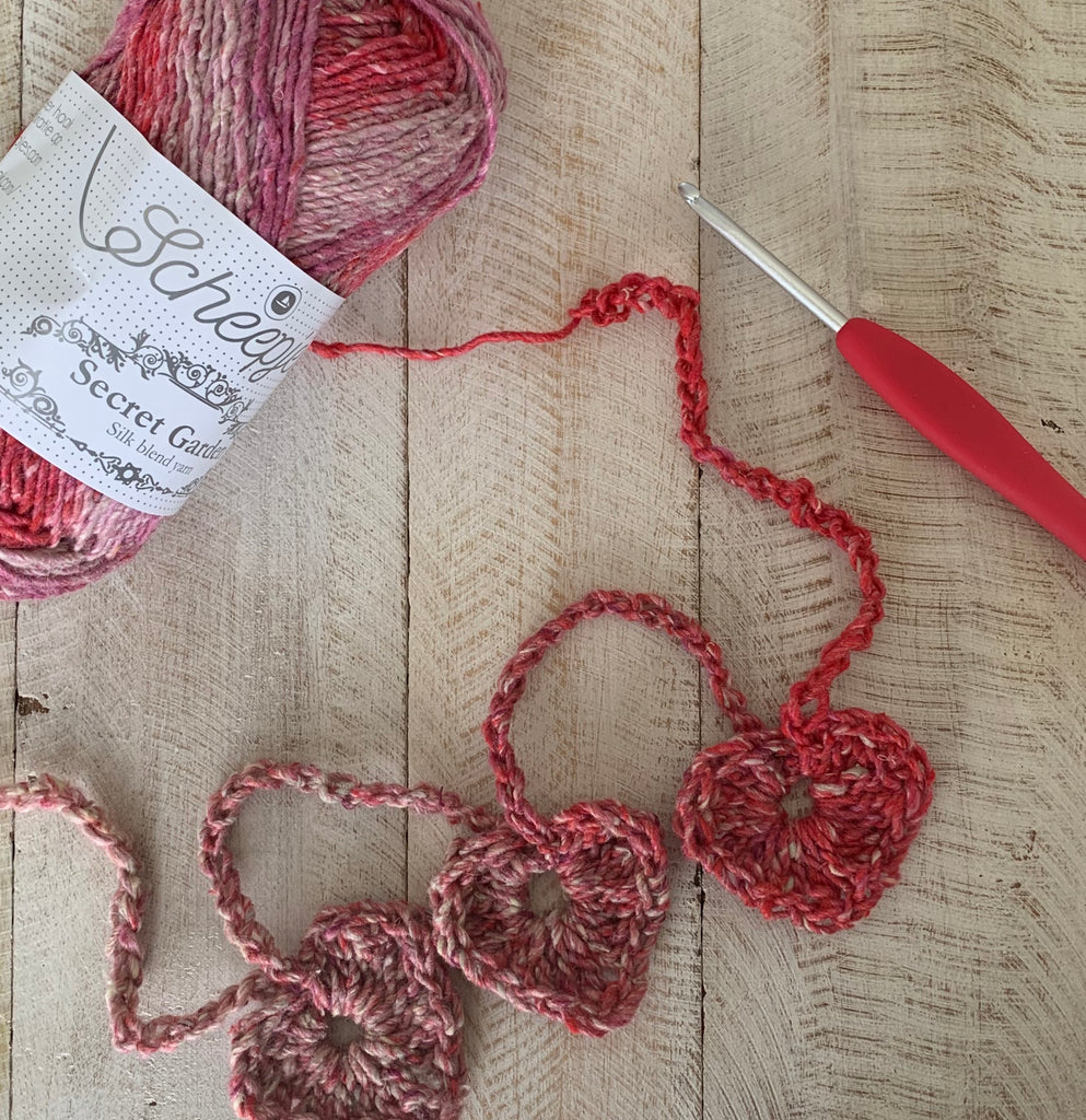 Rambling Hearts Garland by Wendy Bambach.