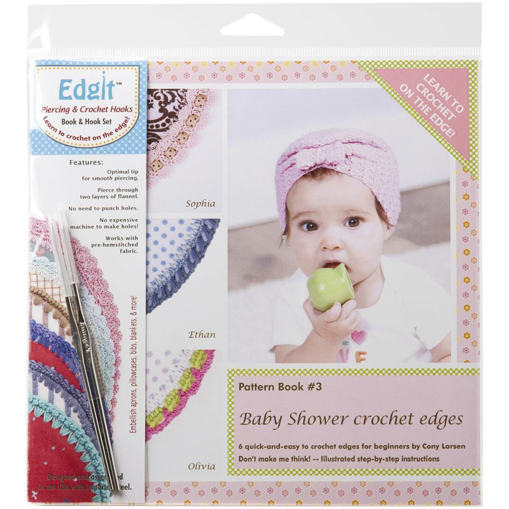 Ammees Babies Edgit Piercing Crochet Hook & Book Set