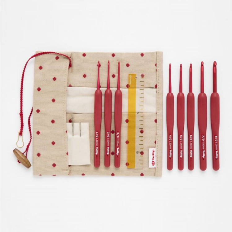 Tulip Etimo Red crochet hook set soft-grip