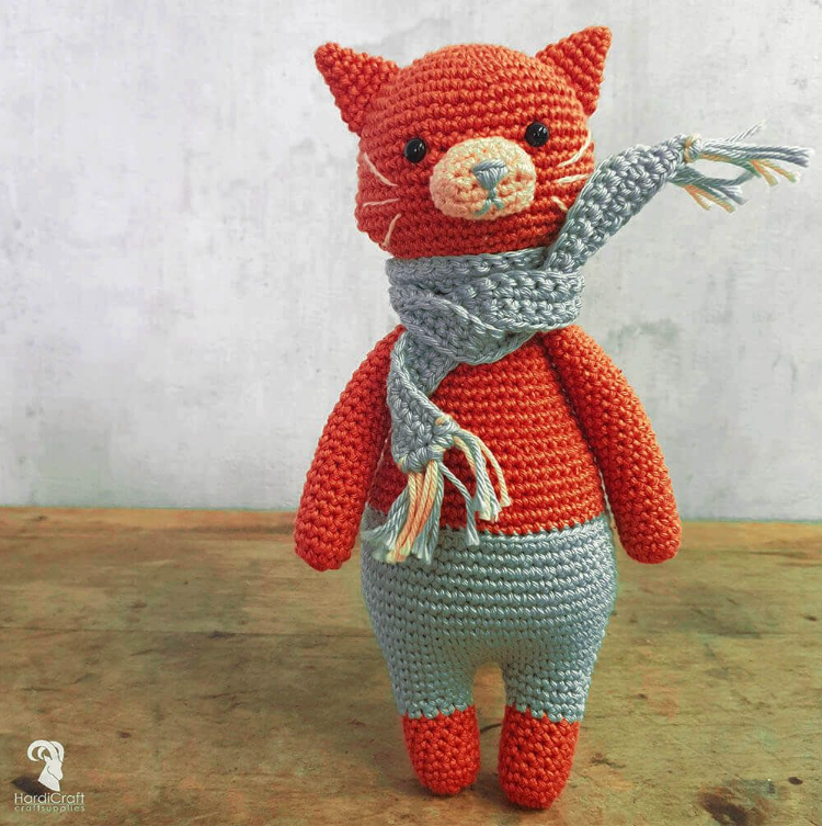Hardicraft Crochet Amigurumi Kit - Pixie Cat