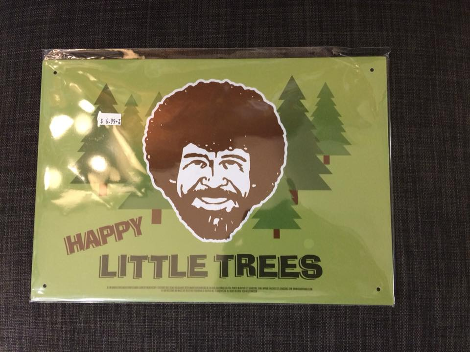 Happy Little Trees Metal Sign