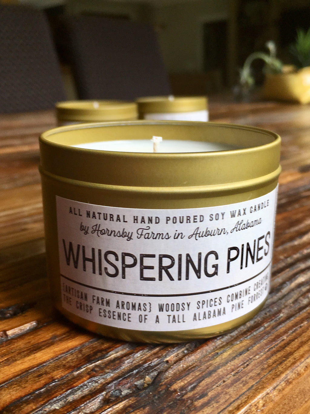 Whispering pines soy candle