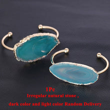 Load image into Gallery viewer, Natural Stone Half Open Bangles
