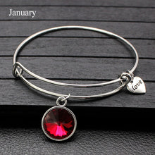 Load image into Gallery viewer, Expandable Crystal Charm Bracelet