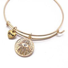 Load image into Gallery viewer, Hamsa Charm Bracelet