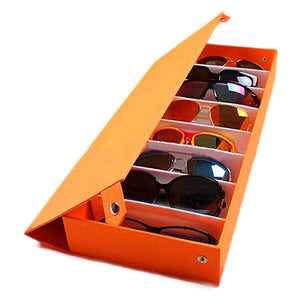 8 Grid Sunglasses Storage Case - Kazzi Boutique