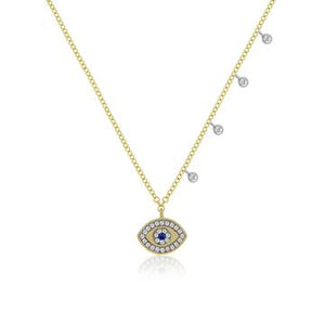 Yellow Gold Evil Eye Necklace