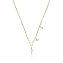 Load image into Gallery viewer, Dainty Diamond Cross Necklace