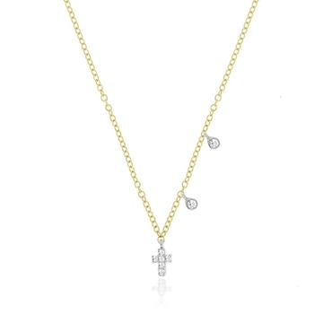Dainty Diamond Cross Necklace