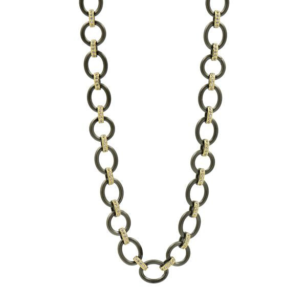Chunky Mixed Metal Link Necklace