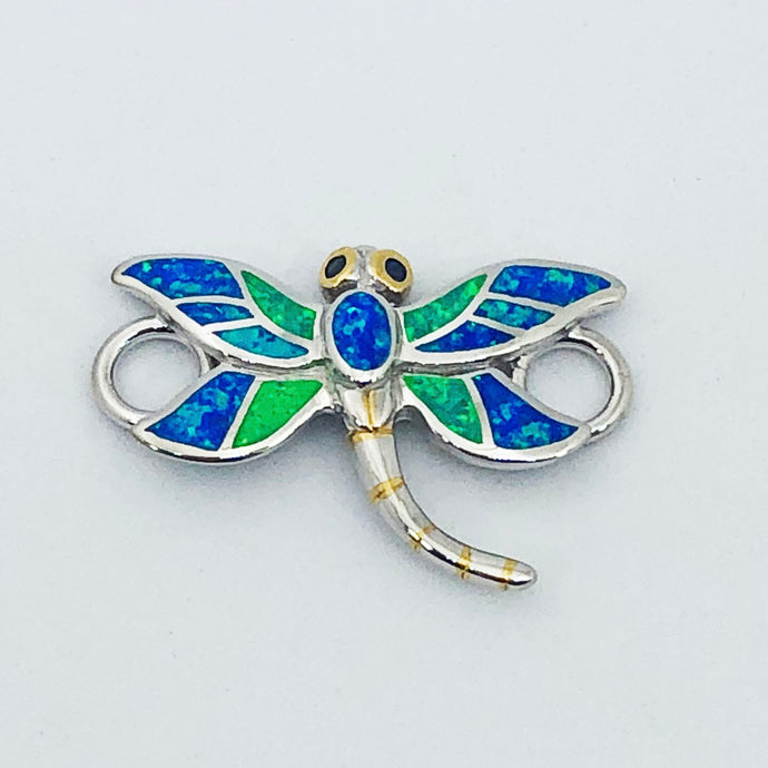 Multi Color Opal Dragonfly Topper