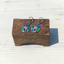 Load image into Gallery viewer, Multi Color Opal Sanddollar Earrings