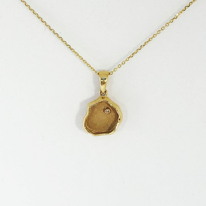 Gold Nest Pendant with Petit Diamond