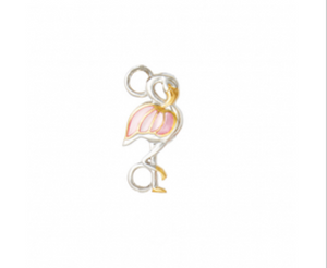 Mother of Pearl Standing Flamingo Topper