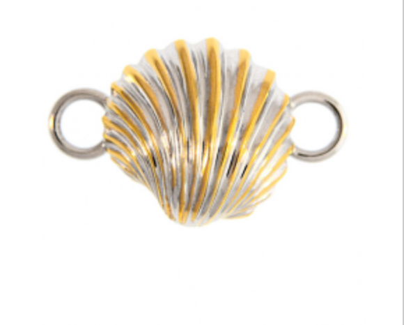 Sterling Silver and Gold Scallop Shell Topper