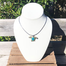 Load image into Gallery viewer, Green and Blue Opal Turtle Yo Yo Pendant