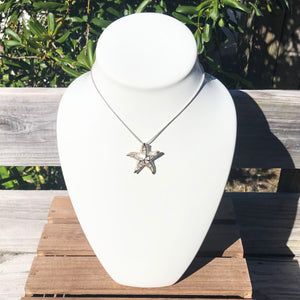 White Mother of Pearl Starfish Pendant