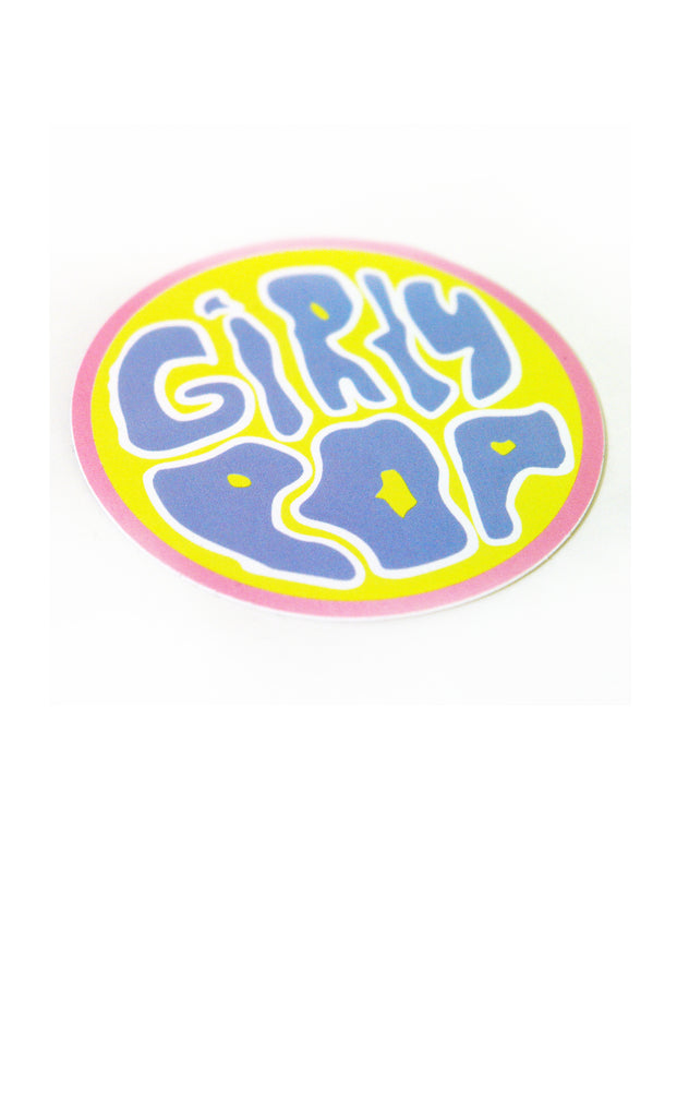 Girly Pop Circle Sticker