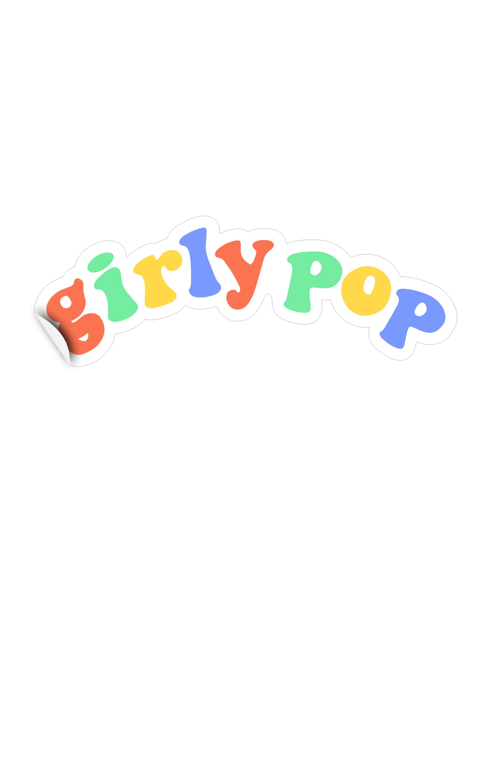 Girly Pop Logo Sticker