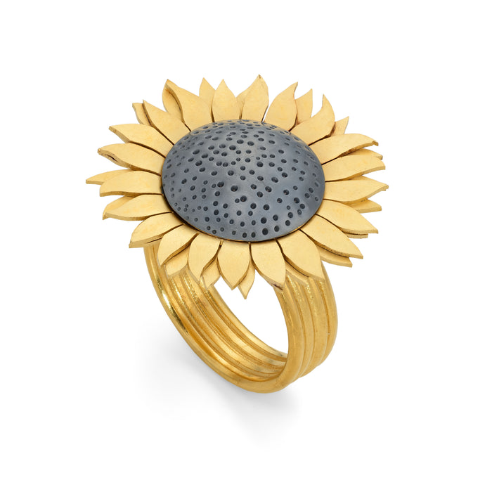 Sunflower Ring by Diana Greenwood Jewellery