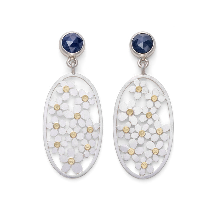 Forget Me Not Earrings by Diana Greenwood Jewellery