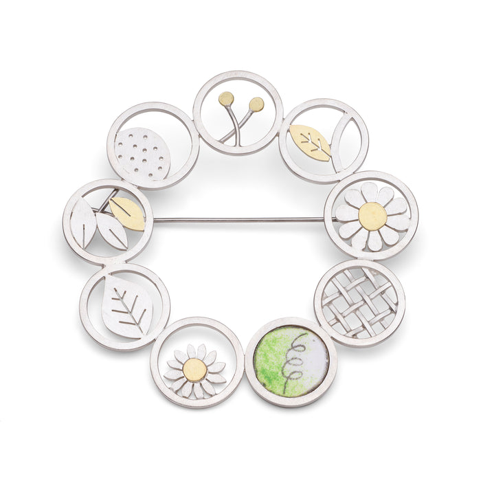 Botanical brooch by Diana Greenwood Jewellery