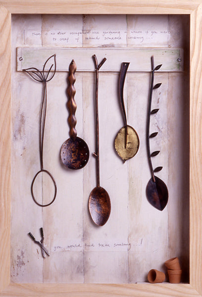 spoons for the garden mantel box by diana greewnood