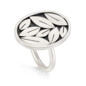 oval leafy ring by diana greenwood