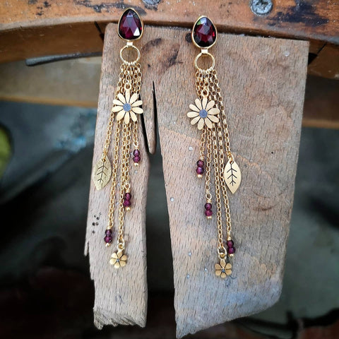 gold-plated garden tassel earring by diana greenwood