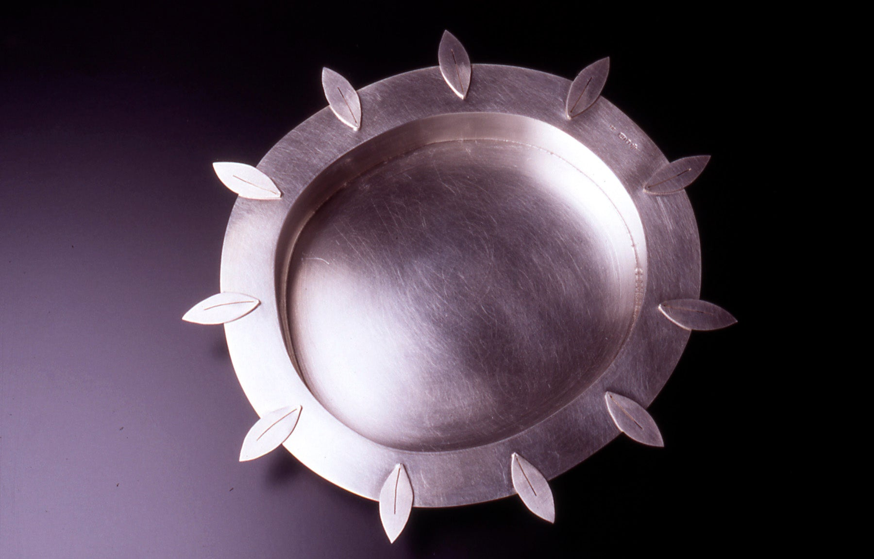 silver dish with leaves by diana greenwood