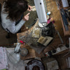 Diana Greenwood at her jewellery bench