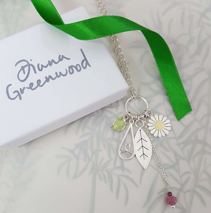 botanical charms pendant by diana greenwood