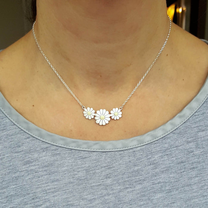 daisy trio necklace by diana greenwood