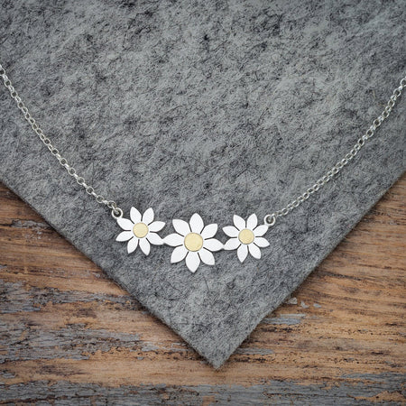 Dahlia Trio Necklace by Diana Greenwood
