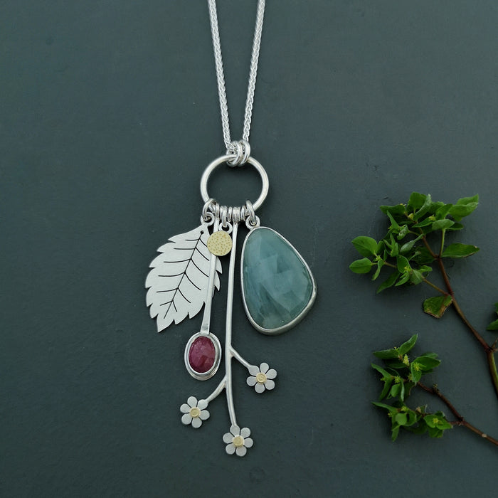 spring garden necklace by diana greenwood