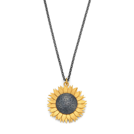 sunflower pendant necklace by diana greenwood