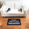 Sneaker mat - please remove your sneakers