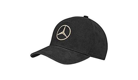 GORRA NEGRA CON ESTRELLA MERCEDES BENZ -  BLACK CAP WITH STAR MERCEDES BENZ