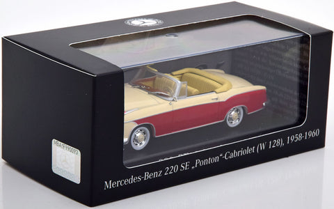 MODELO A ESCALA COLECCIONABLE 220SE CABRIO MERCEDES BENZ -  COLLECTIBLE SCALE MODEL 220SE CABRIO MERCEDES BENZ