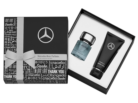 SET DE REGALO PERFUME GOLOGNE MERCEDES BENZ PARA HOMBRE -  GOLOGNE MERCEDES BENZ PERFUME GIFT SET FOR MEN