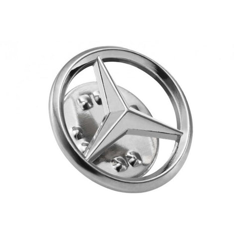 Badge, Mercedes star, MB Collection / PIN DE ESTRELLA 10MM, S / ACERO