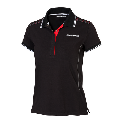 POLO PARA MUJER/AMG Womens' polo shirt, black/red XS